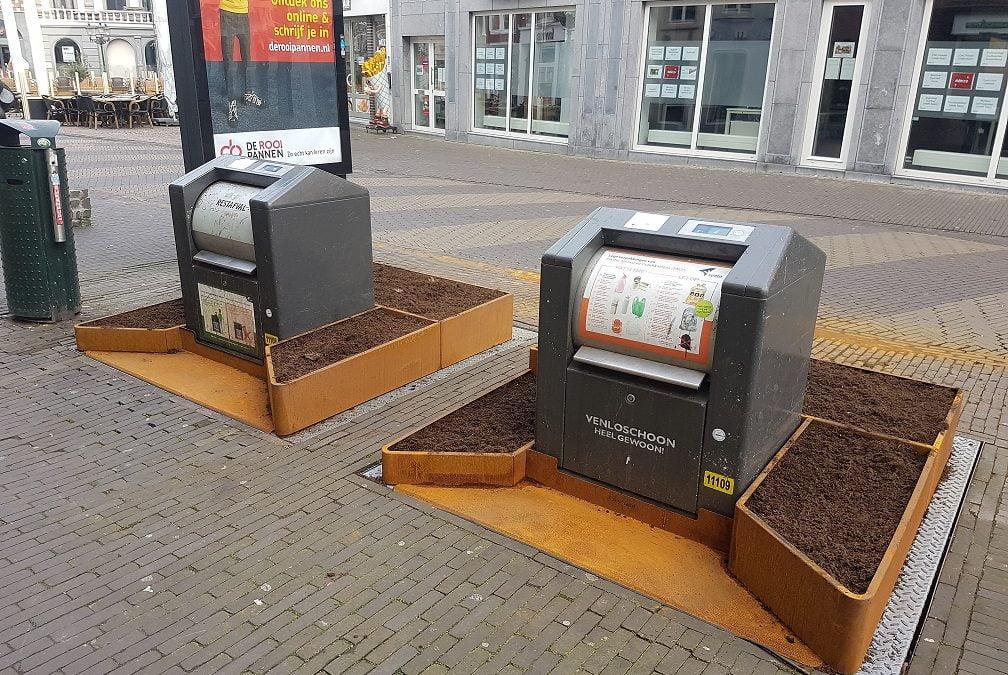 Containertuintjes fleuren Venlose binnenstad op